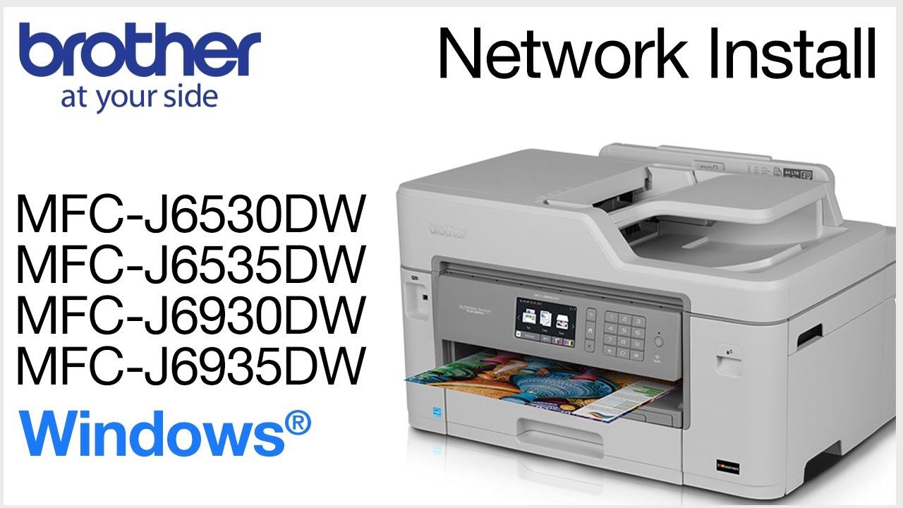Install MFCJ6530DW MFCJ6535DW or MFCJ6930DW on a wired network ...