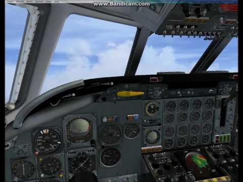 [fsx] Just Flight DC-8 10/40 series landing at JFK