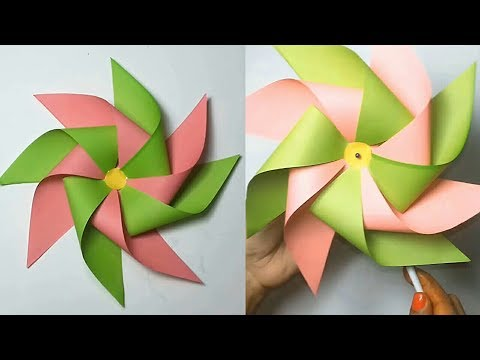 Windmill Paper Craft  - DIY Paper Craft | How to make a Paper Windmill | windmill Tutorial !!