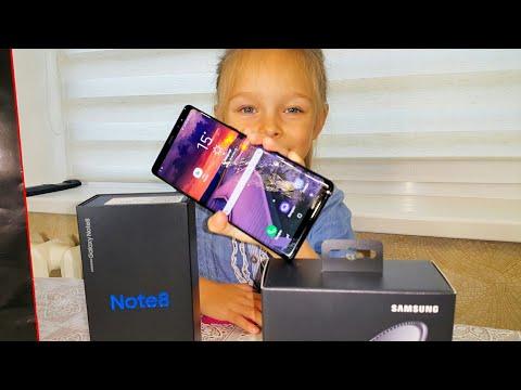 Распаковка Samsung Galaxy Note 8 из 5 элемент магазин