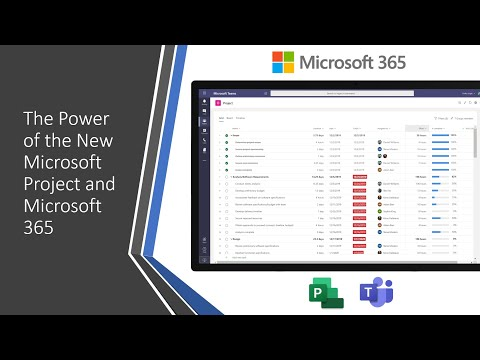 The Power Of The New Microsoft Project And Microsoft 365 Youtube