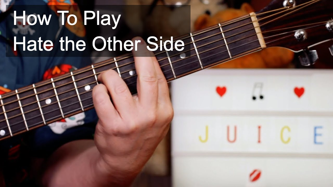 'Hate the Other Side' Juice WRLD Guitar Lesson
