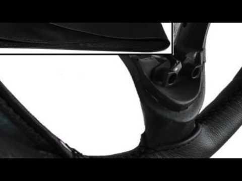 FITS VW GOLF MK4 BLACK ITALIAN LEATHER STEERING WHEEL COVER