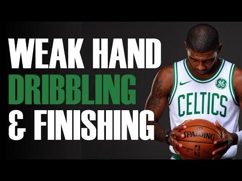 Improve Your Weak Hand   Weak Hand Dribbling & Finishing Drill   Pro Training Basketball