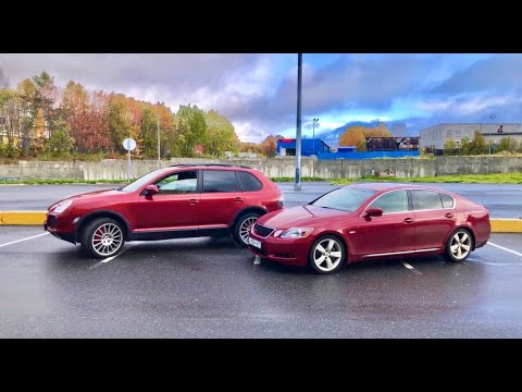 Lexus GS на V8. Хочется и колется. Заезд с Porsche Cayenne.