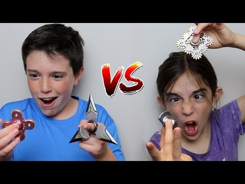 Thumbnail: FIDGET SPINNER vs FIDGET SPINNER!!