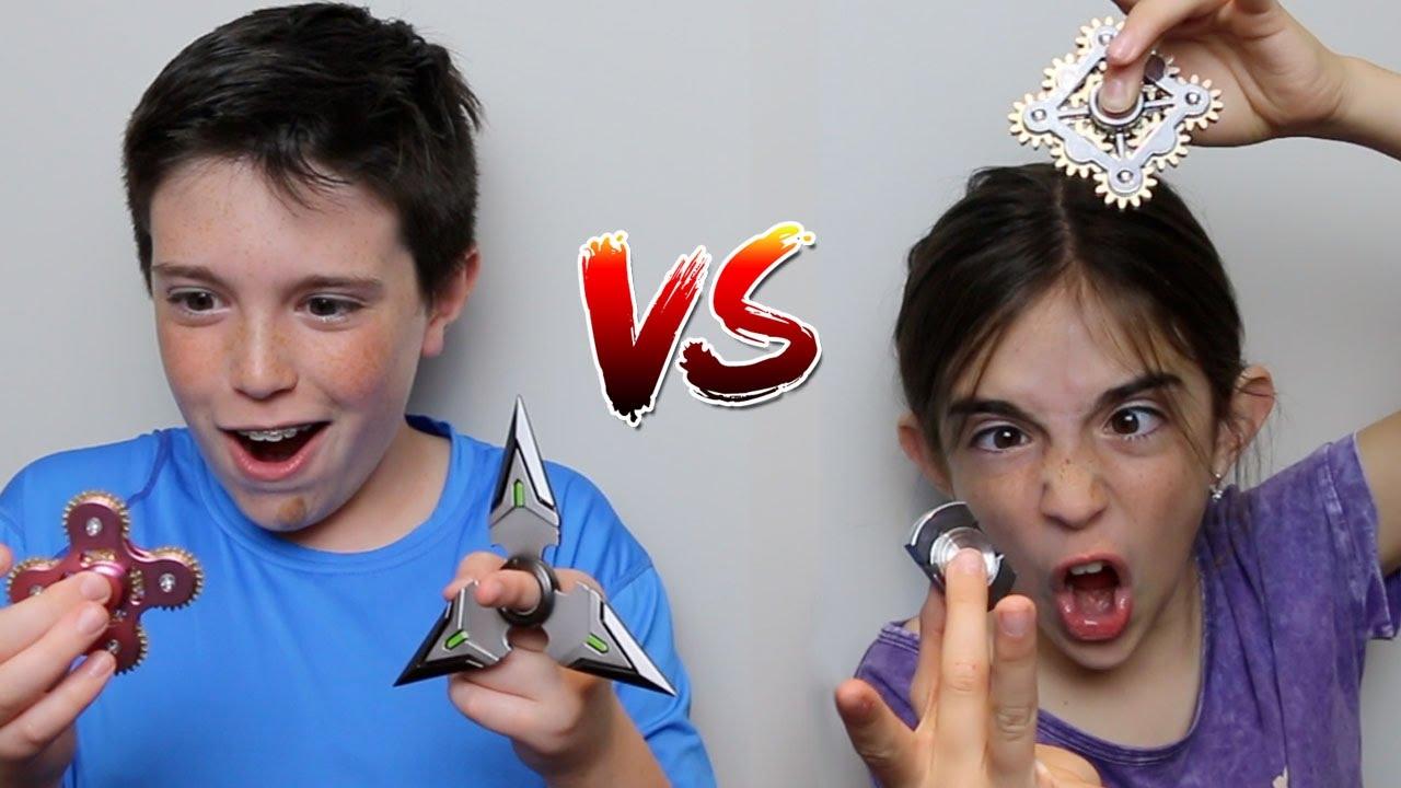 FIDGET SPINNER vs FIDGET SPINNER!! - YouTube