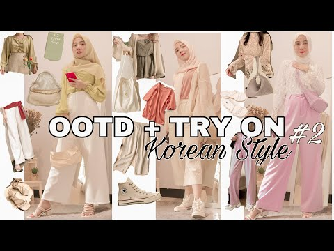 SHOPEE HAUL + TRY ON OUTFIT KOREA #2 - YouTube