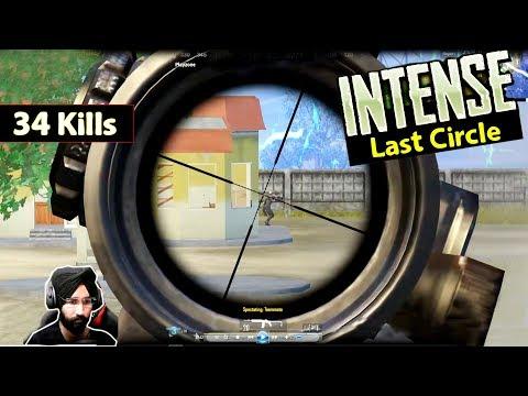 Insanity of Last Circle in PUBG MOBILE || 34 Kills