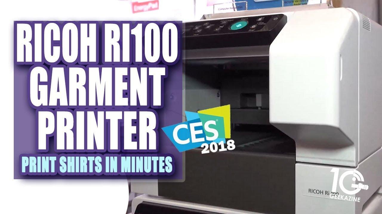 b7348042e The Ricoh (Anajet) Ri100 Garment Printer - YouTube