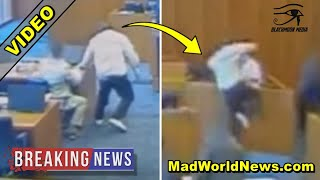 WATCH: Gangbanger Lunges At Witness In Courtroom, Then U.S. Marshall Fires 4 Shots