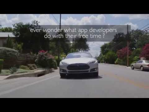 Tesla With Gas Engine