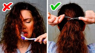 20 LIFE HACKS WITH DENTAL FLOSS || Crazy Uses For Your Everyday Stuff
