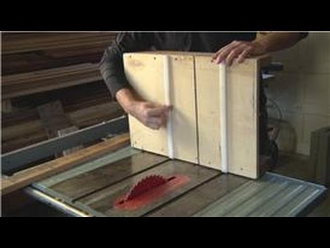 Home Remodeling Tools How To Use A Cross Cut Sled On The