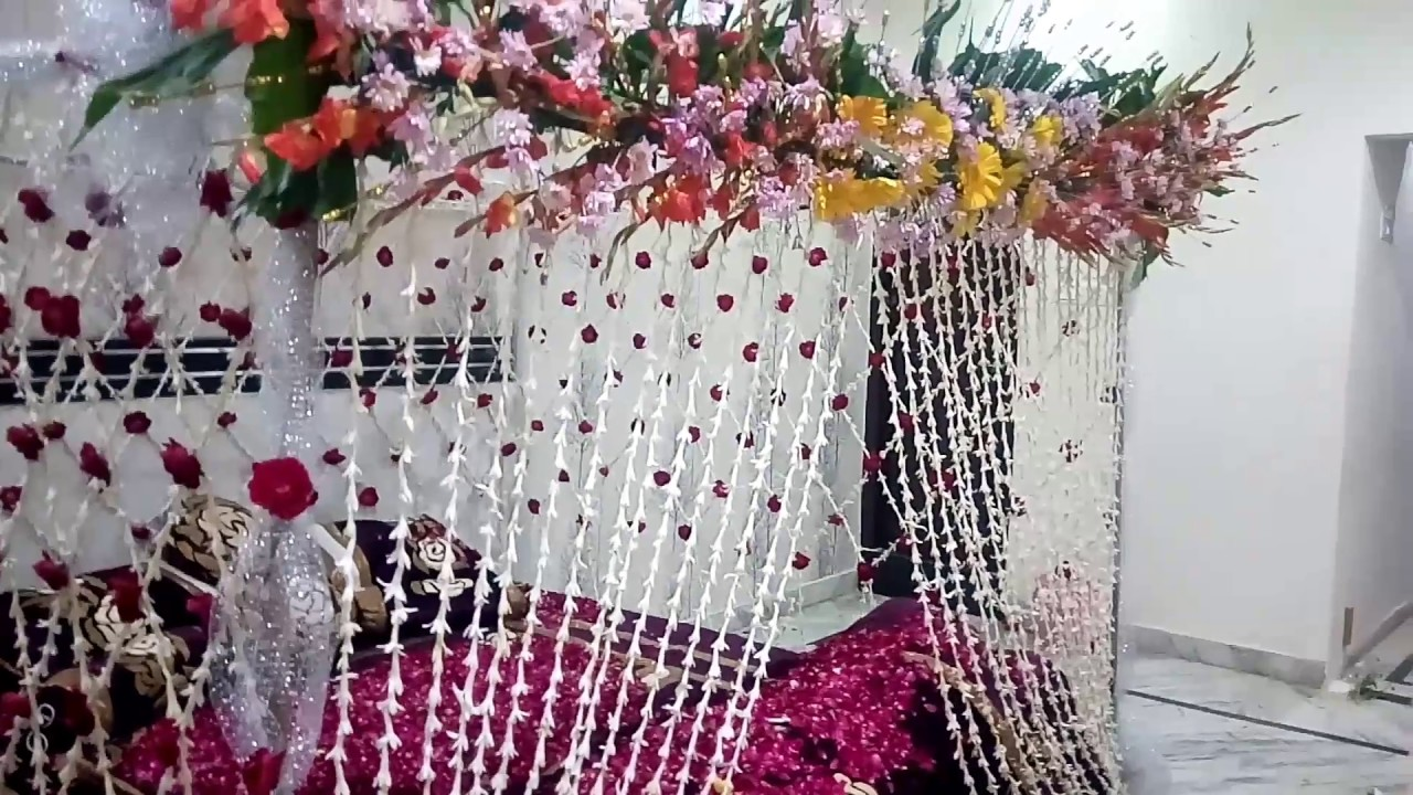 Original Flower Wedding Bad Decoration Youtube