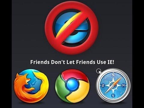Don T Use Internet Explorer Ie Not Safe Youtube
