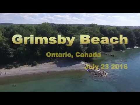 GRIMSBY BEACH ONTARIO, Aerial view of Lake Ontario