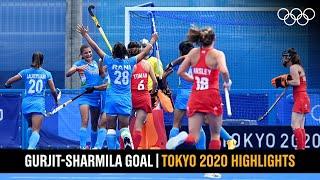 Gurjit - Sharmila's opening goal 🏑   #Tokyo2020 Highlights