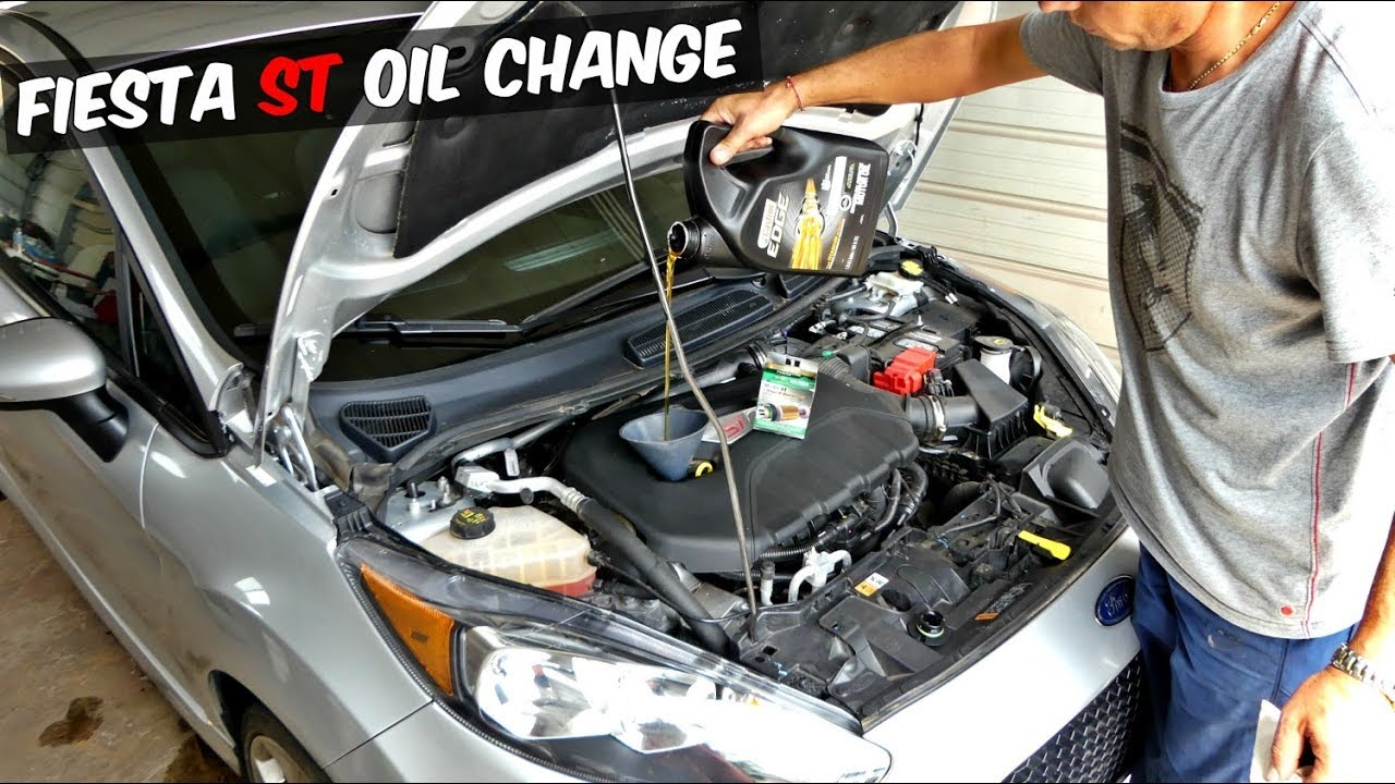 Ford Fiesta St Oil Change Youtube