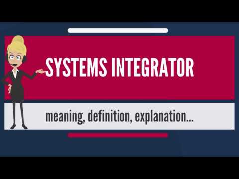 What is SYSTEMS INTEGRATOR? What does SYSTEMS INTEGRATOR mean? SYSTEMS INTEGRATOR meaning