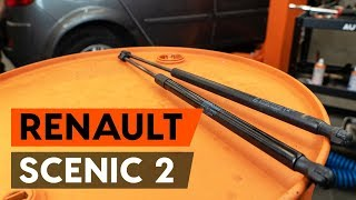 How to change gas struts / tailgate struts on RENAULT SCENIC 2 (JM) [TUTORIAL AUTODOC]