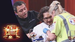 Florin Dumitrescu a suferit un accident de muncă la Chefi la cuţite