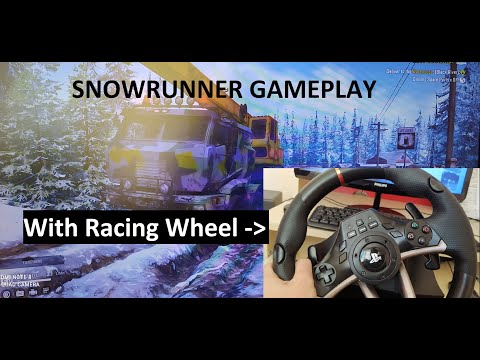SnowRunner a Spintires Game / Gameplay With Racing Wheel |