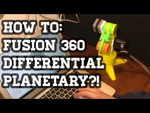 New Gearbox + How to Design a Differential Planetary in Fusion 360