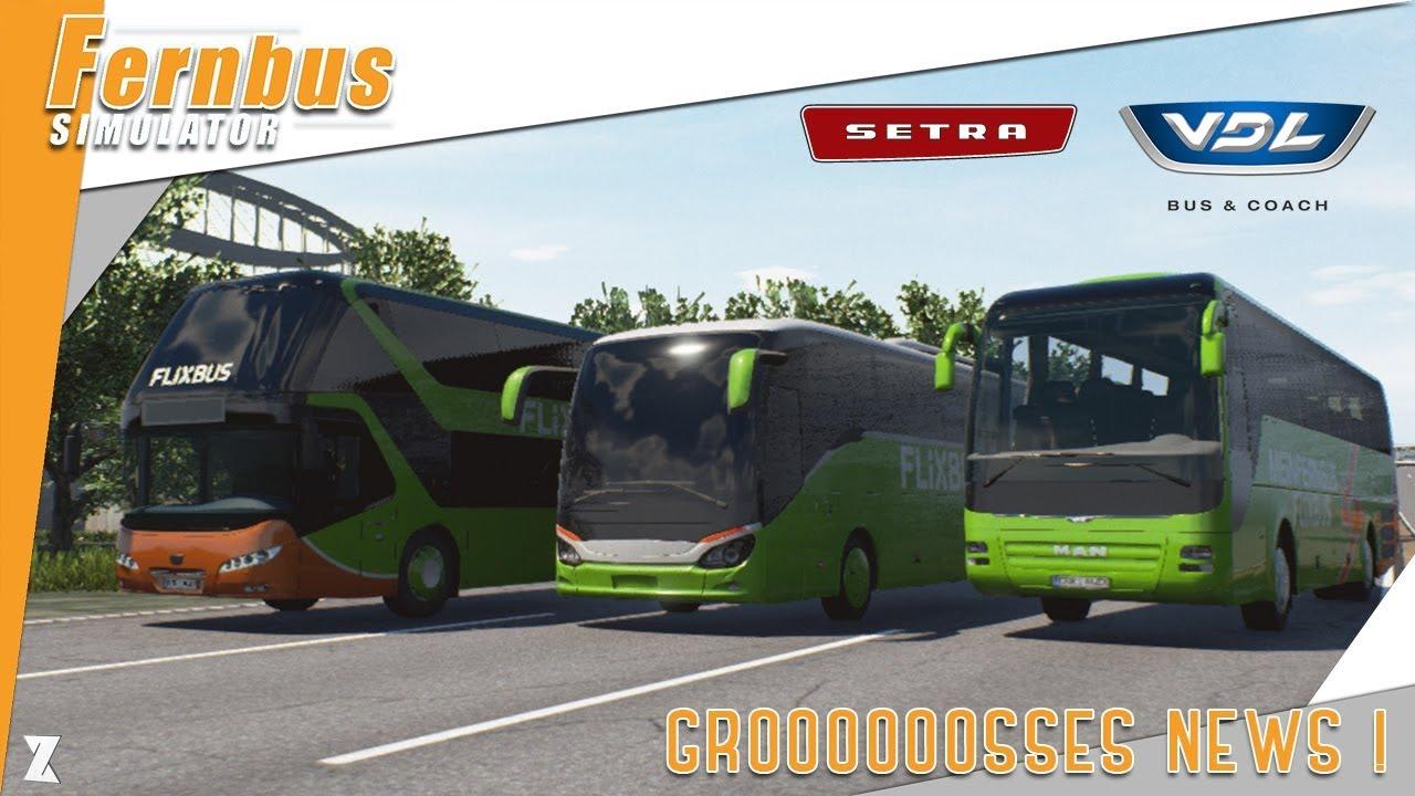fernbus coach simulator setra vdl dlc france du. Black Bedroom Furniture Sets. Home Design Ideas