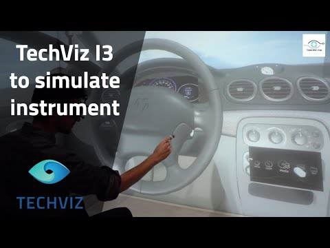 Simulate instrument clusters in Virtual Reality and assess HMI ergonomics with TechViz I3 option
