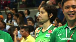 A teary-eyed Mika Reyes looks on