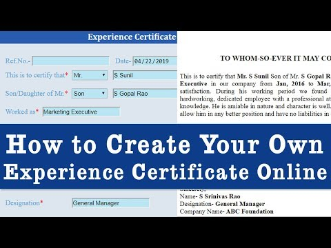 How To Create Experience Certificate Online