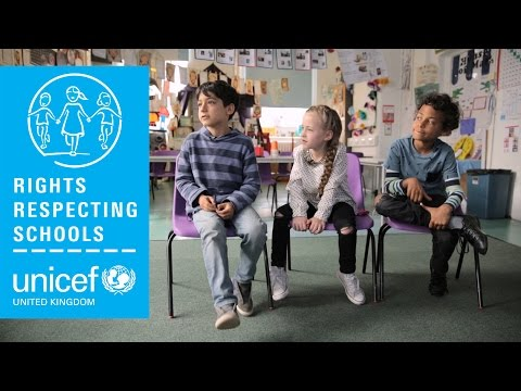 Talking about being Rights Respecting at school