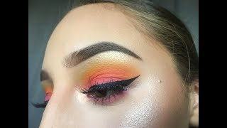 Issa Sunset Look / Sweat Proof Makeup