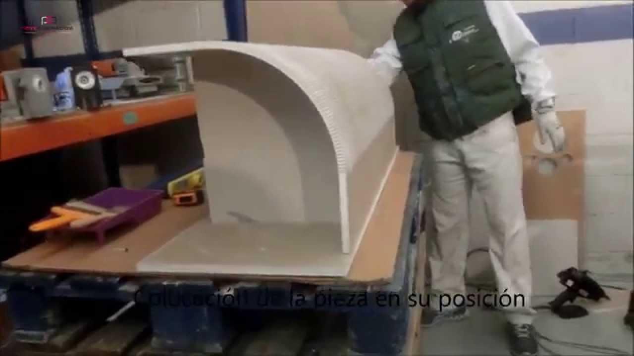 Realización de una pieza preformada curva en placa de yeso (Pladur)  YouTube -> Armario De Banheiro Curvo