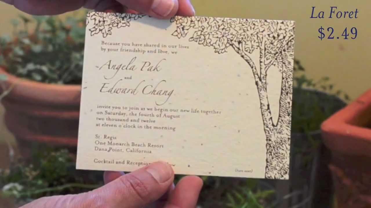 Affordable Plantable Wedding Invitations - YouTube