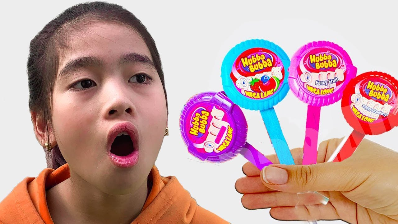 알리와 아드리아나 손가락 가족 노래 유아를위한 교육 비디오 Adriana and Daddy Finger Learning Colors With Family Hubba Bubba