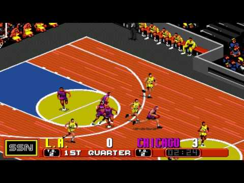 David Robinson Basketball Gameplay Sega Genesis/Mega Drive
