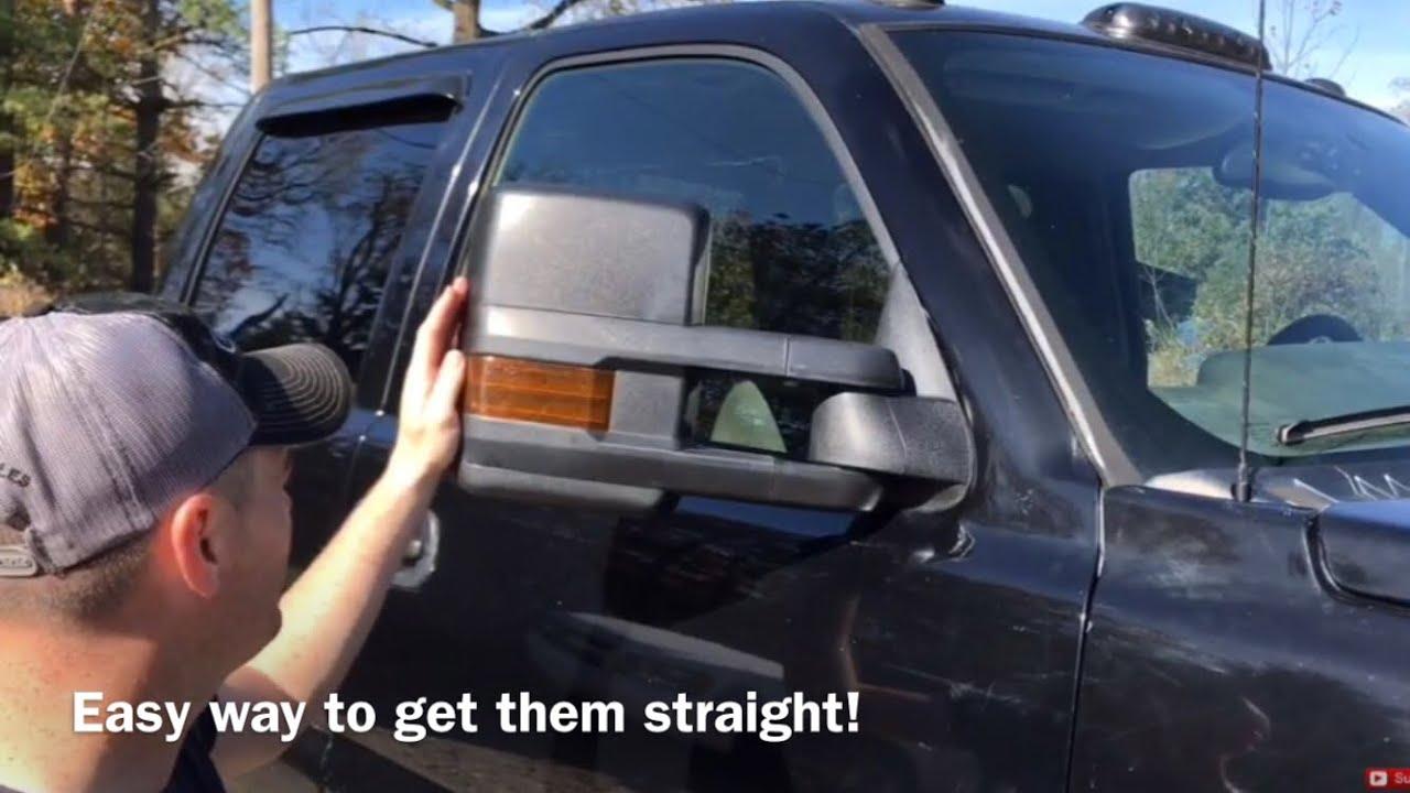 How To Level 2017 Tow Mirrors On A Silverado Youtube