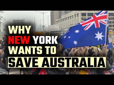 Thousands PROTEST to 'Save Australia' in New York City