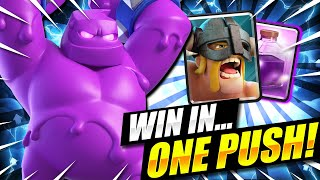 3 CROWNS IN 60 SECONDS ONLY!! WORLD'S MOST TOXIC DECK EVER!! Clash Royale Elixir Golem Deck