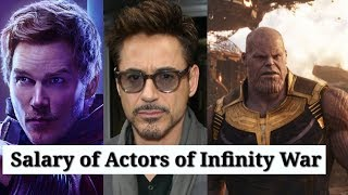 Real Salary of Actors of Avengers Infinity War