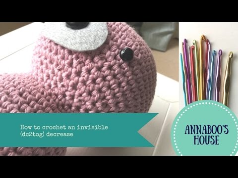 How to crochet an invisible (dc2tog) decrease