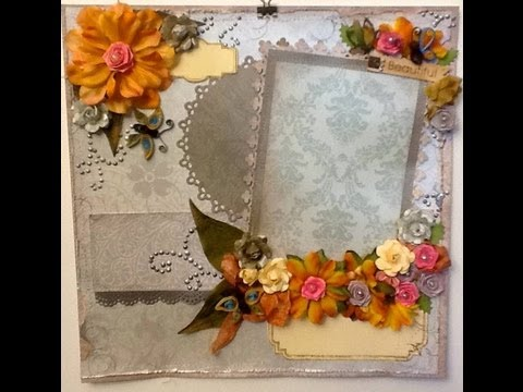 Papercraft Scrapbook Layout  using quilling - Beautiful