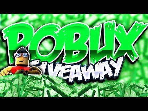 Robux giveaway youtube