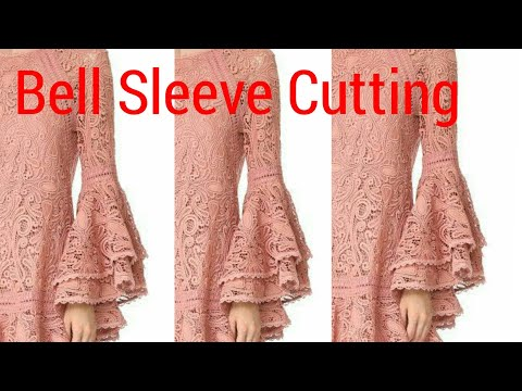 Bell Sleeve Cutting With Designer Pattern