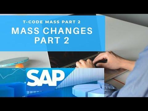 Mass T-Code Part 2 : SAP