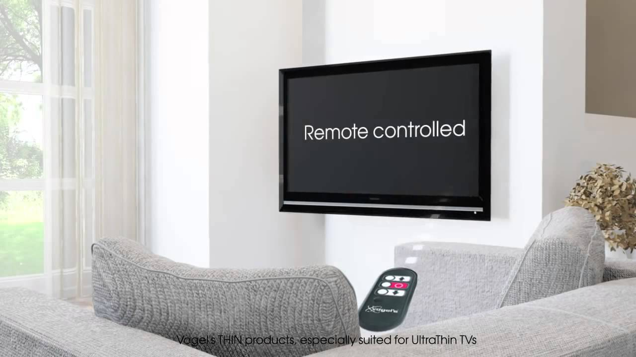 vogel 39 s thin rc 355 elektrische tv muurbeugel youtube. Black Bedroom Furniture Sets. Home Design Ideas