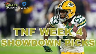 Week 4 Thursday Night Football NFL DFS Showdown Picks - Eagles-Packers - Awesemo com