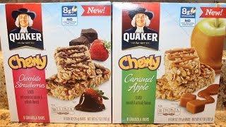 Quaker: Chocolate Strawberries & Caramel Apple Bars Review